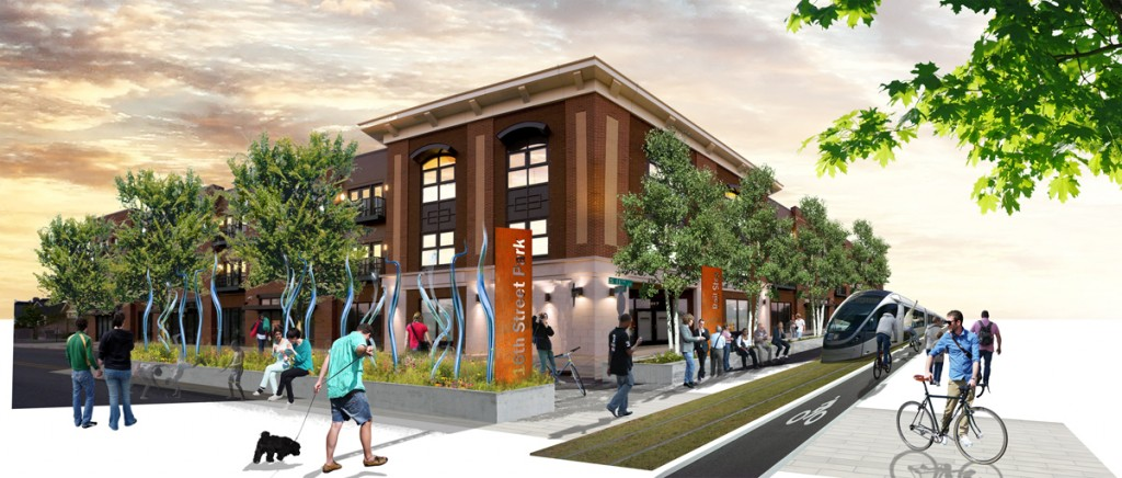 Revamping the neighborhoods of Ward 7 and 8 with increased commercial density.