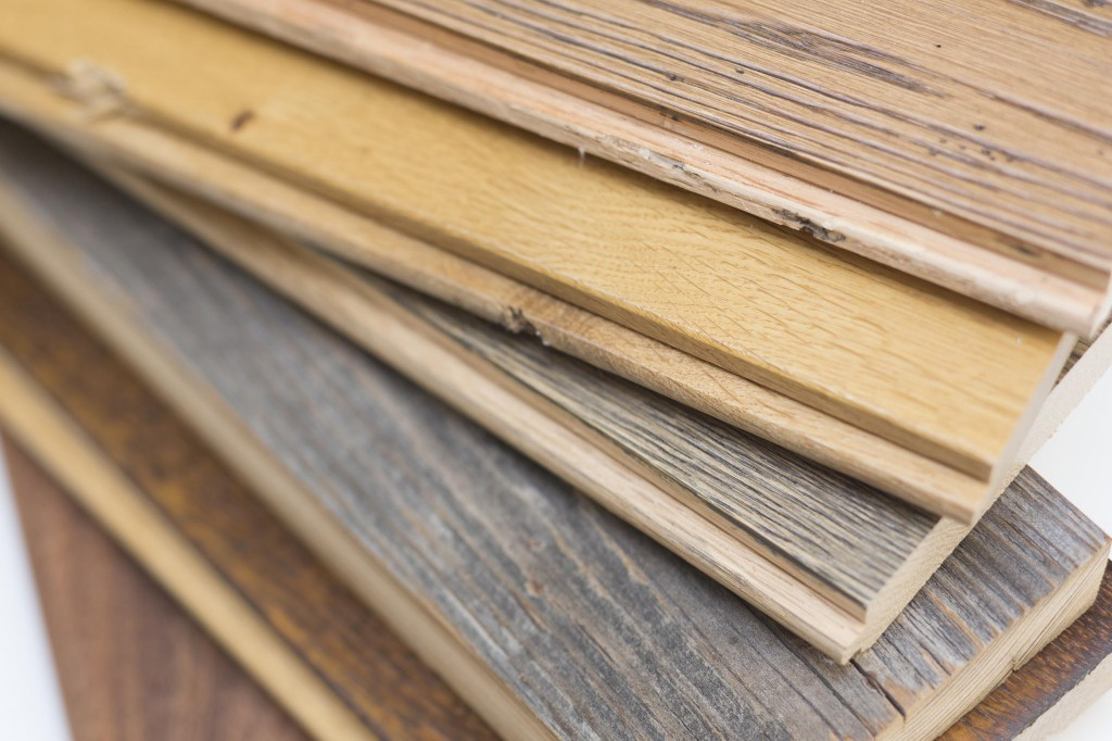 Wood samples for interior finishes